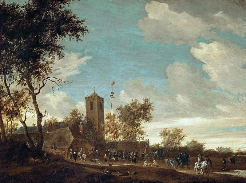 Salomon van Ruysdael (c. 1602-1670) -- Kermess under the Maypole. Kunsthistorisches Museum