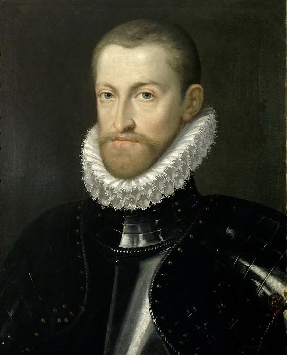 Martino Rota -- Rudolf II, Holy Roman Emperor, in Armor. Kunsthistorisches Museum