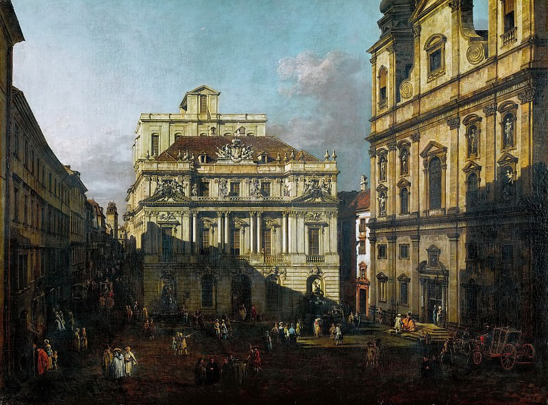 Bernardo Bellotto (1721-1780) -- Old University Square in Vienna. Kunsthistorisches Museum