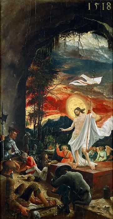 Albrecht Altdorfer -- Saint Sebastian Altar; Resurrection. Kunsthistorisches Museum