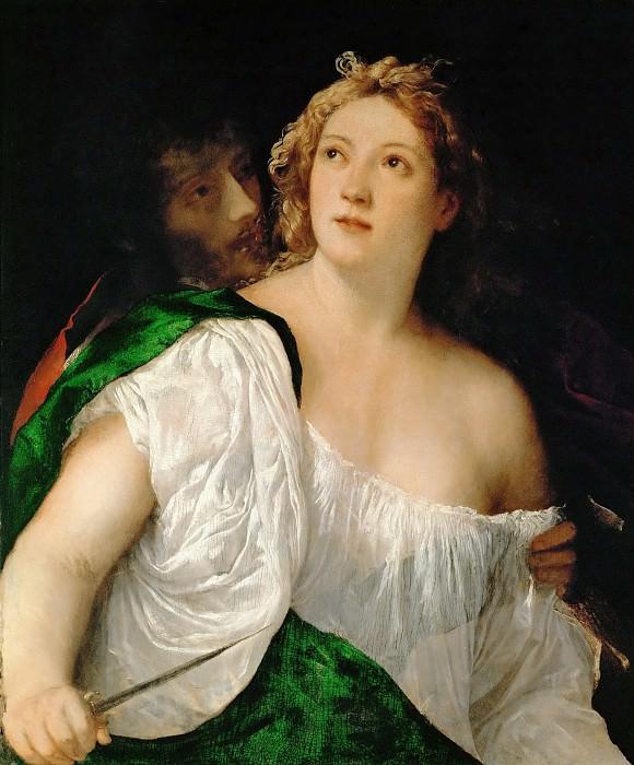 Titian -- Lucretia and Her Consort, Tarquinius Collantinus. Kunsthistorisches Museum