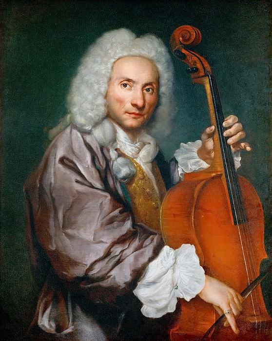 Giacomo Antonio Ceruti -- Portrait of a Cellist. Kunsthistorisches Museum