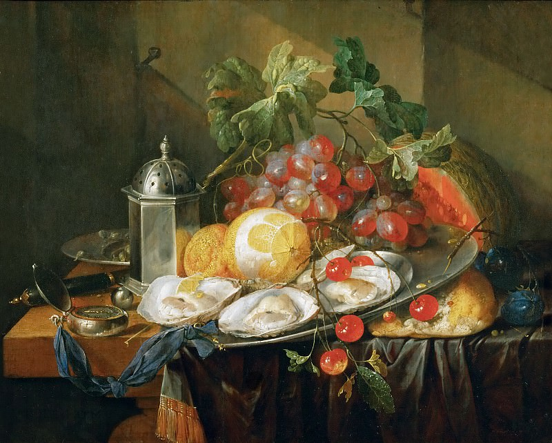 Cornelis de Heem (1631-1695) -- Breakfast Still Life. Kunsthistorisches Museum