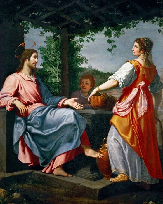 Giovanni Bilivert -- Christ and the Samaritan Woman at the Well. Kunsthistorisches Museum