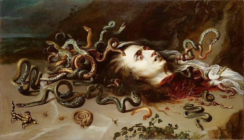 Peter Paul Rubens -- Head of Medusa. Kunsthistorisches Museum
