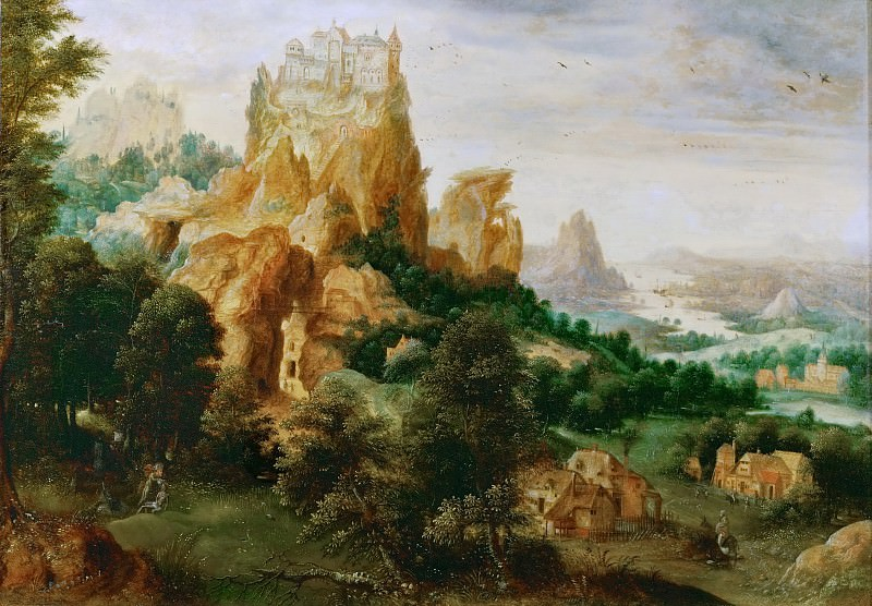 Herri met de Bles (c. 1510-after 1550) -- Landscape with the Good Samaritan. Kunsthistorisches Museum