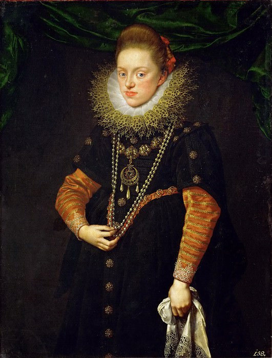 Frans Pourbus the Younger (1569-1622) -- Archduchess Konstanze, Queen of Poland (1588-1631). Kunsthistorisches Museum