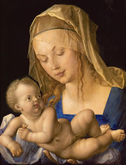 Madonna with the Pear. Albrecht Dürer