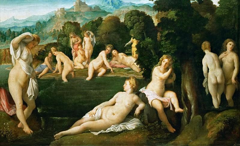 Якопо Пальма I - Купающиеся нимфы. Музей истории искусств