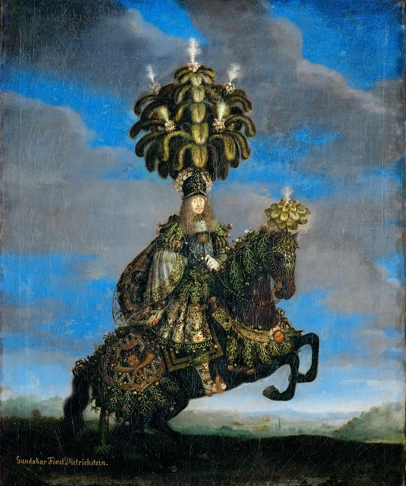 Jan Thomas -- Gundakar, Prince Dietrichstein in a costume for a horse-ballet, performed in honor of the arrival of the Infanta Margarita Teresa, bride of Emperor Leopold I.. Kunsthistorisches Museum