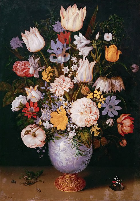 Ambrosius Bosschaert the Younger (1609-1645) -- Still Life with Flowers. Kunsthistorisches Museum