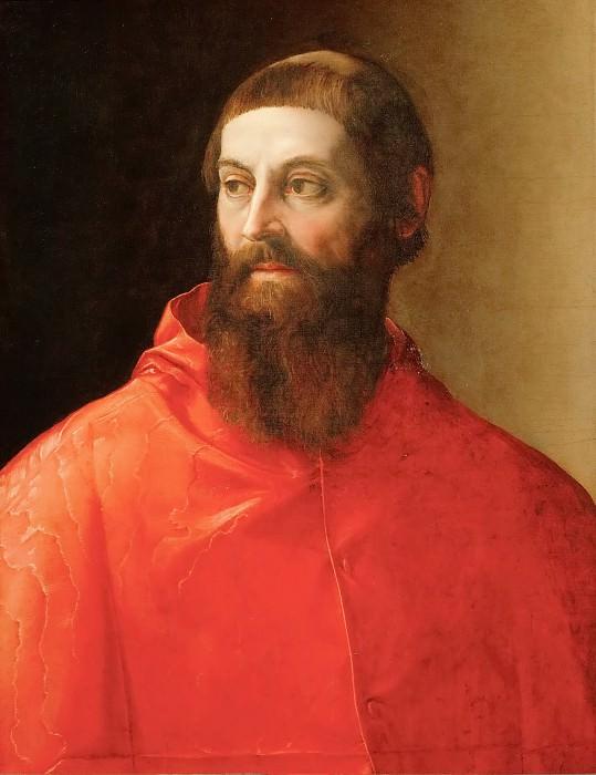 Francesco Salviati (1510-1563) -- Cardinal Rodolfo Pio (c. 1500-1564). Kunsthistorisches Museum