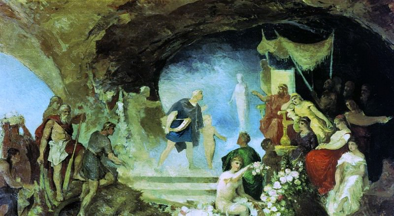 Orpheus in the underworld. End 80. Henryk Semiradsky