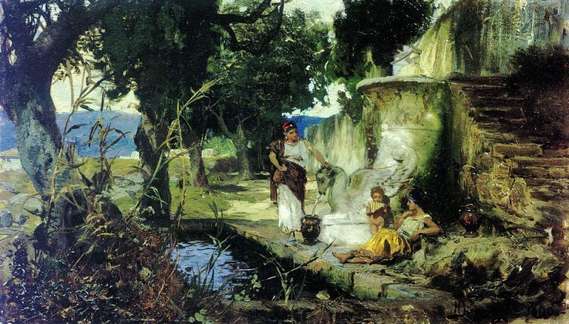 The scene at the well. 1890. Henryk Semiradsky
