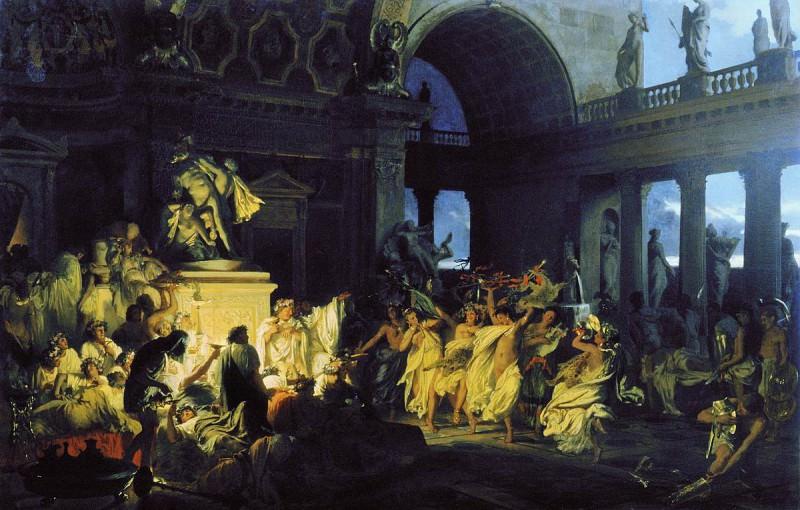 Roman orgy of brilliant times Caesarism. 1872. Henryk Semiradsky