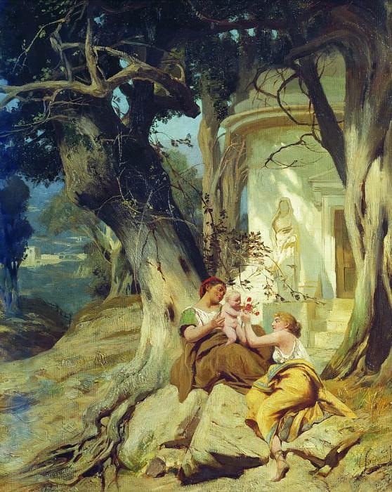 У храма (Идиллия). 1881. Генрих Ипполитович Семирадский