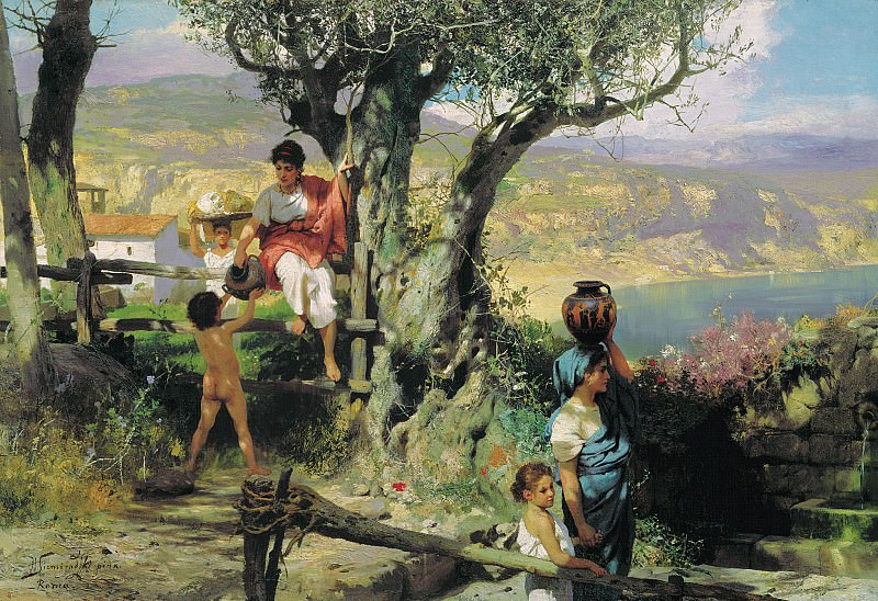 Rome. Village. Canvas. Henryk Semiradsky