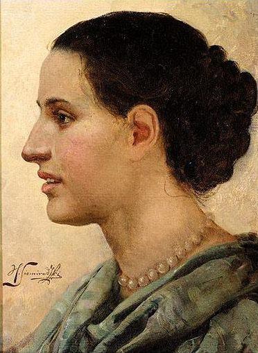 Portrait of a Girl. Henryk Semiradsky