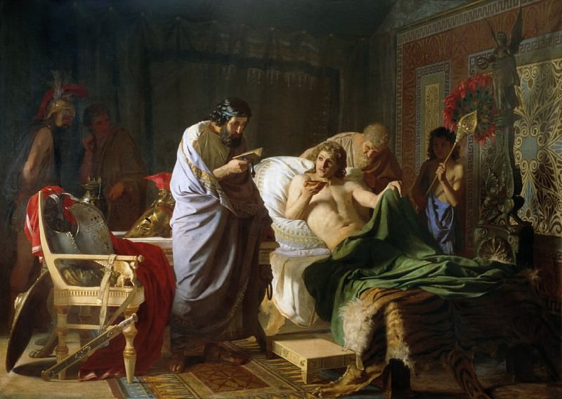 Confidence Alexander of Macedon to the doctor Philip. Henryk Semiradsky