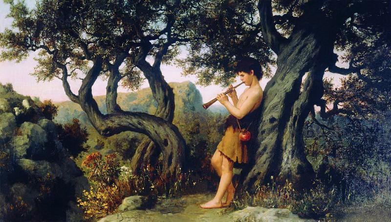 shepherd playing the flute. Henryk Semiradsky
