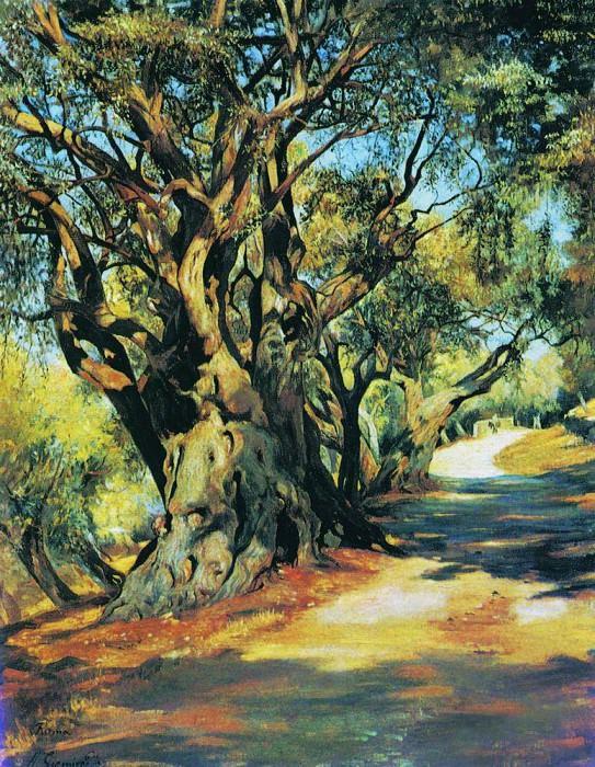 Дорога из Рима в Альбано. 1873. Генрих Ипполитович Семирадский