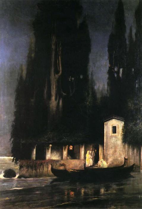 Ночное отплытие с острова. Генрих Ипполитович Семирадский