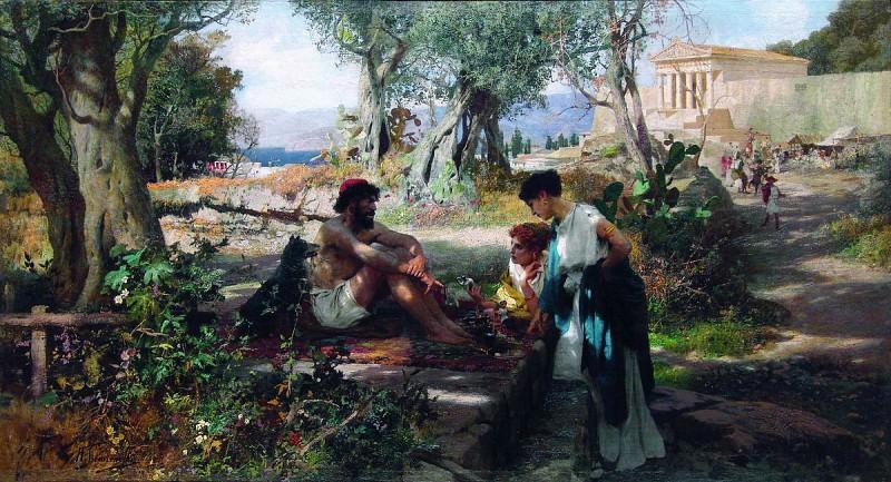 Greek merchant (The road to the shrine). Henryk Semiradsky