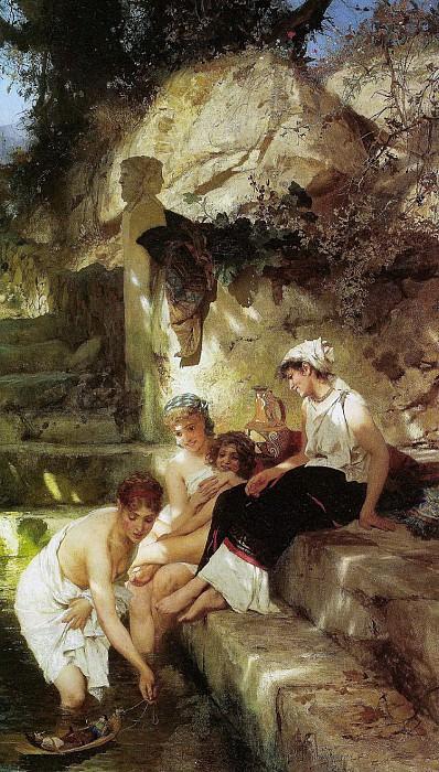 Roman idyll. 1885-90. Henryk Semiradsky