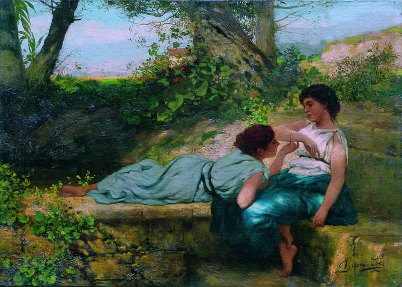 Conversation. Henryk Semiradsky