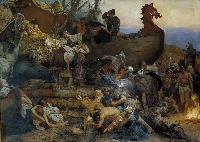 Funeral noble Virus. 1883. Henryk Semiradsky