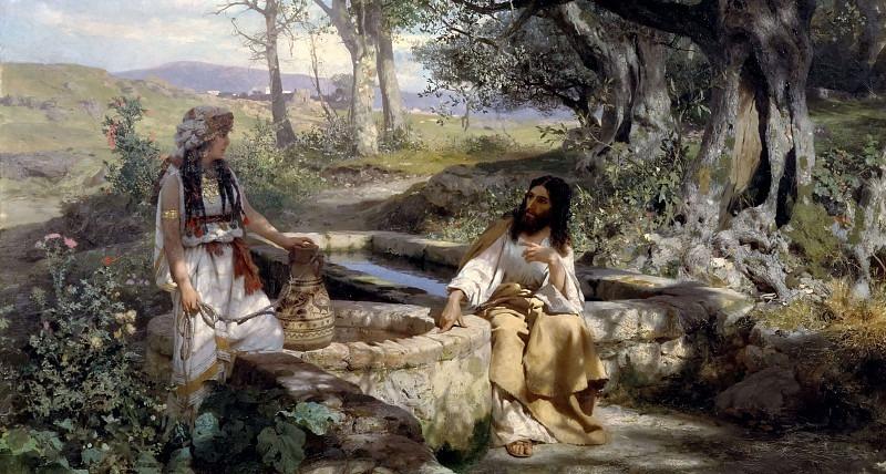 Christ and the Samaritan woman. 1890. Canvas. Henryk Semiradsky