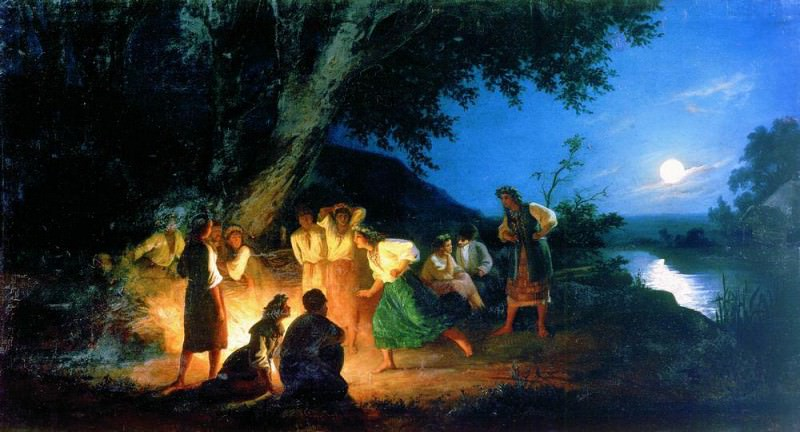 Night on the eve of Ivan Kupala. 1880. Henryk Semiradsky