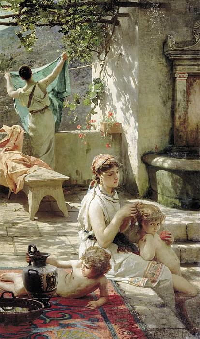 U reservoir. 1895. Canvas. Henryk Semiradsky