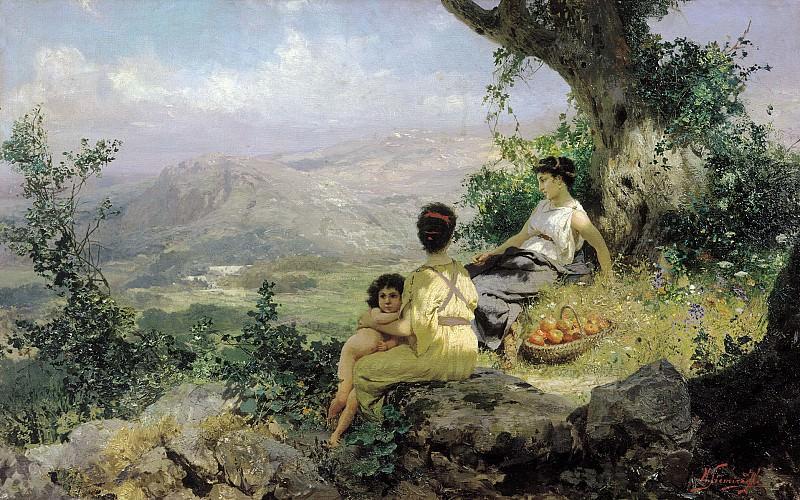 Vacation. 1890. Canvas. Henryk Semiradsky