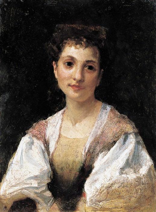 Портрет молодой итальянки. 1875. Генрих Ипполитович Семирадский