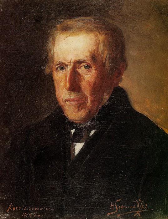 Portrait of the artists father. 1887. Henryk Semiradsky