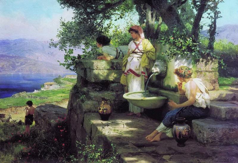 The Spring. Henryk Semiradsky