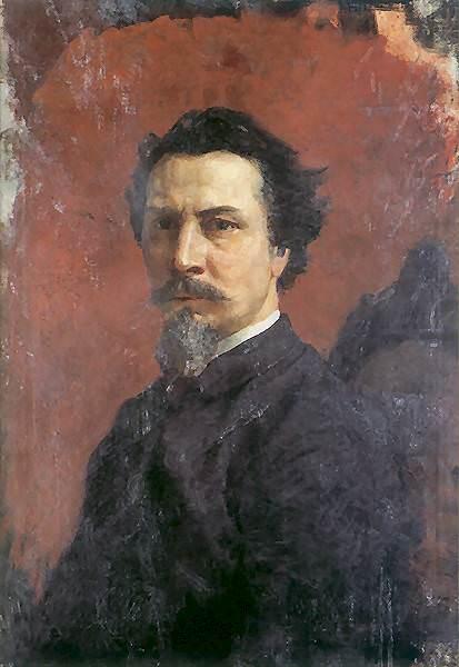 Автопортрет (незакончен). 1876. Генрих Ипполитович Семирадский
