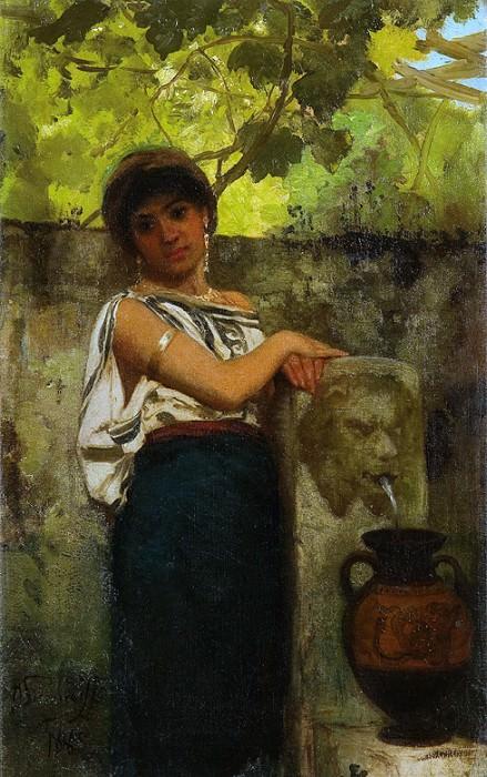 У источника воды. 1885. Генрих Ипполитович Семирадский