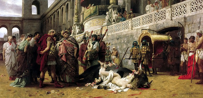 Christian Dirtseya the Circus of Nero. 1898. Canvas. Henryk Semiradsky
