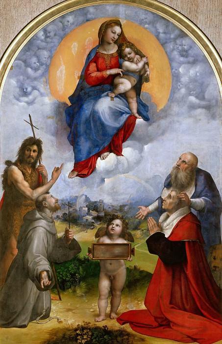 Madonna di Foligno. Raffaello Sanzio da Urbino) Raphael (Raffaello Santi