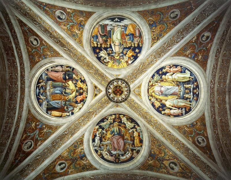 Stanza Fire in the Borgo: Ceiling. Raffaello Sanzio da Urbino) Raphael (Raffaello Santi