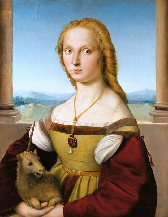 Lady with a Unicorn. Raffaello Sanzio da Urbino) Raphael (Raffaello Santi