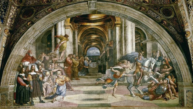 Stanza of Heliodorus: The Expulsion of Heliodorus from the Temple. Raffaello Sanzio da Urbino) Raphael (Raffaello Santi