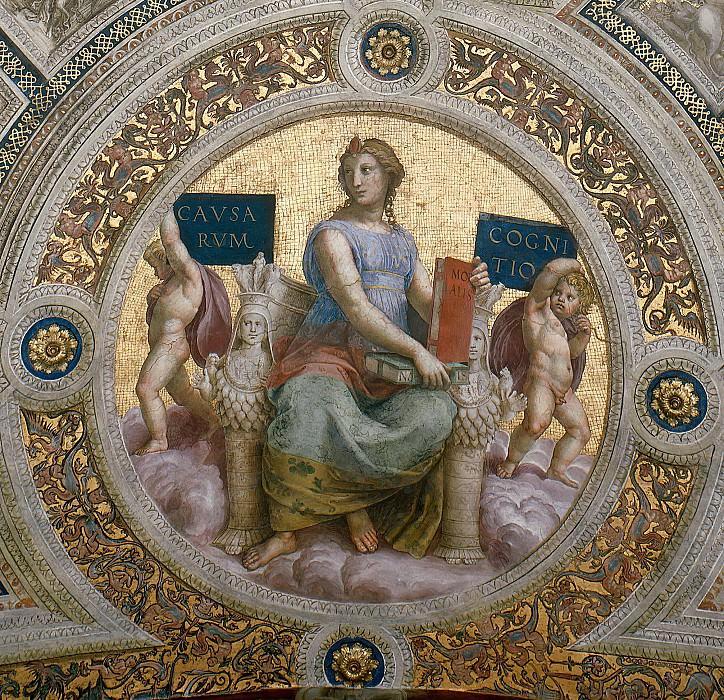 Станца делла Сеньятура: Роспись потолка (фрагмент) - Философия. Рафаэль Санти