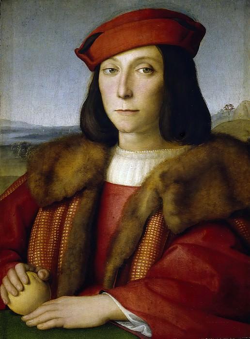 Portrait of a Man, thought to be Francesco Maria della Rovere. Raffaello Sanzio da Urbino) Raphael (Raffaello Santi