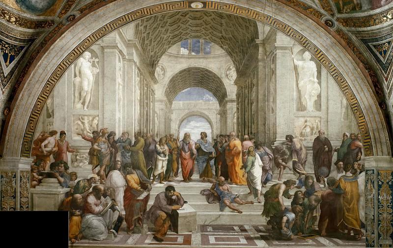 Stanza della Segnatura: The School of Athens. Raffaello Sanzio da Urbino) Raphael (Raffaello Santi
