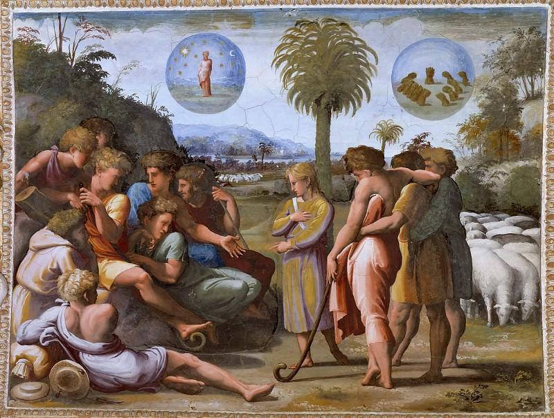 Joseph Tells His Brothers His Dream. Raffaello Sanzio da Urbino) Raphael (Raffaello Santi