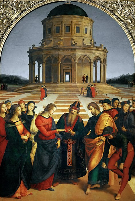 Marriage of the Virgin. Raffaello Sanzio da Urbino) Raphael (Raffaello Santi