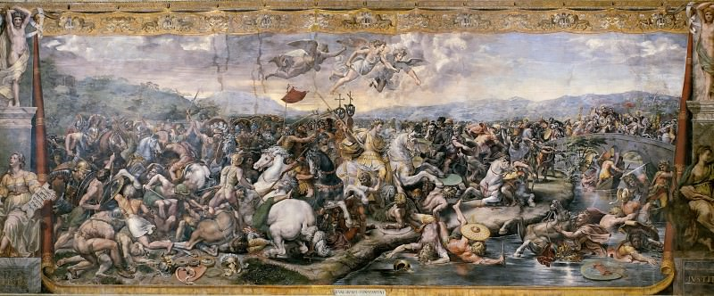 Room of Constantine: The Battle of the Milvian Bridge (Giulio Romano). Raffaello Sanzio da Urbino) Raphael (Raffaello Santi